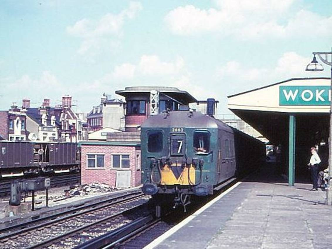 2 HAL 2662 at Woking on 13.57 Waterloo to Portsmouth 28 August 1966 copyright BloodandCustard web.jpg
